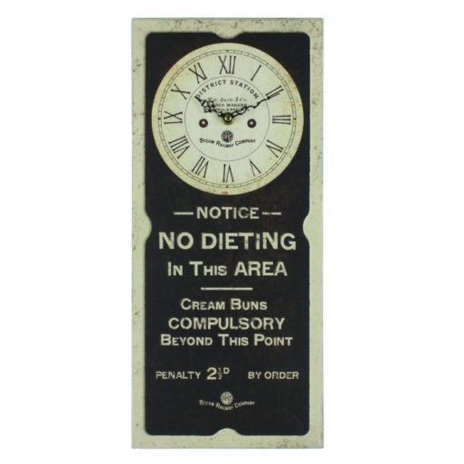 Ceas de perete No Dieting