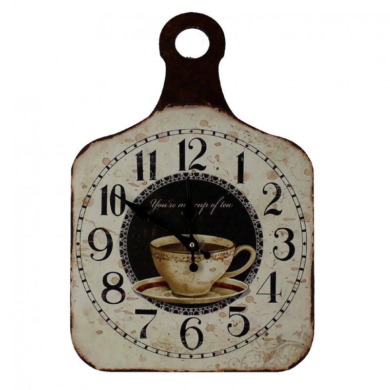 Ceas de perete pentru bucatarie tocator ceasca de cafea