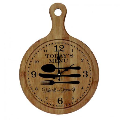 Ceas de perete pentru bucatarie tocator