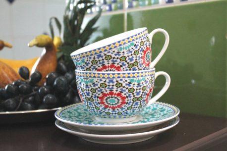 Cesti de cafea mozaic Maroc