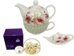 Set ceai trandafiri cosulet Swarovski