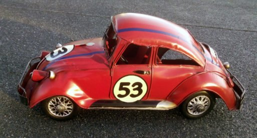 Masina retro VW beetle rosie