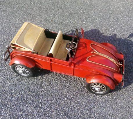 Masina decapotabila rosie macheta metalica cadou de colectie