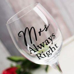 Set pahare pentru miri Mr Right si Mrs Always Right