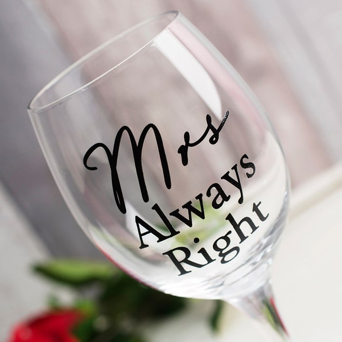 Set pahare pentru miri Mr Right si Mrs Always Right