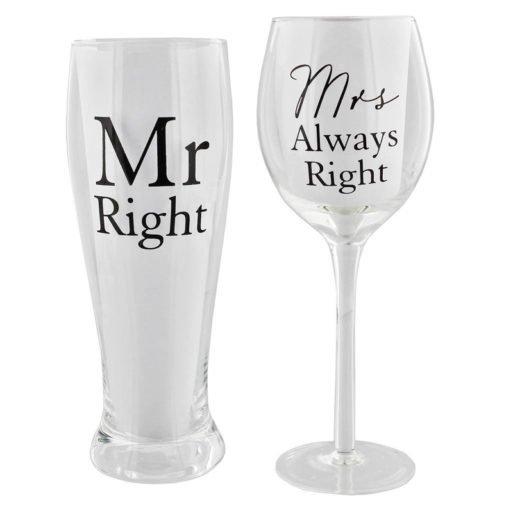 Set pahare pentru miri cadou de nunta Amore by Juliana
