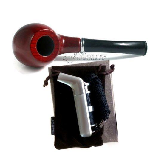 Set pentru fumatori pipa si bricheta