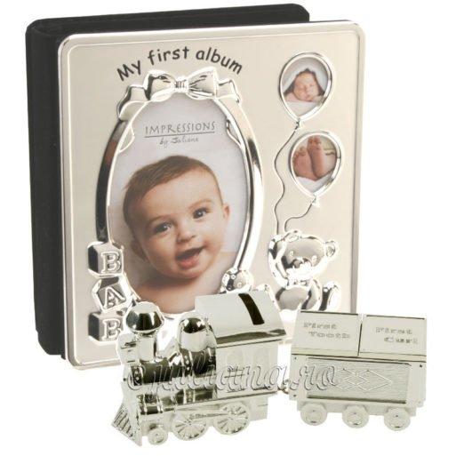 Primul album al bebelusului set bucla dintisor tren