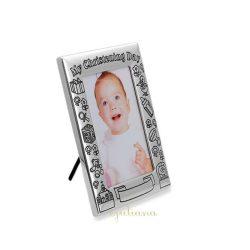 Rama foto argintata pentru bebelusi
