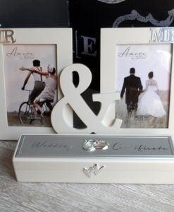 Caseta suport certificat casatorie rama dubla miri