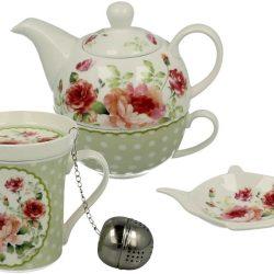 Set ceainic cu ceasca si cana cu infuzor