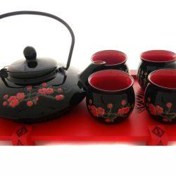 Set de ceai oriental ceainic cu patru cesti