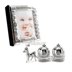 Album foto set bucla dintisor cadou de botez fata