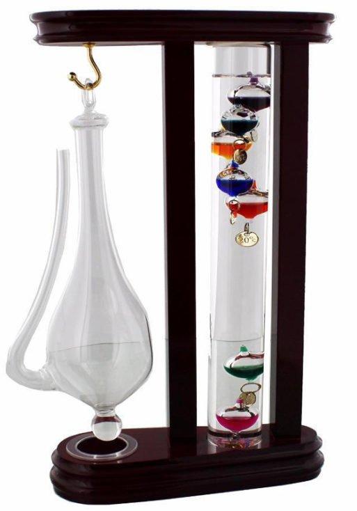 Set termometru de birou Galileo Galilei Storm Glass