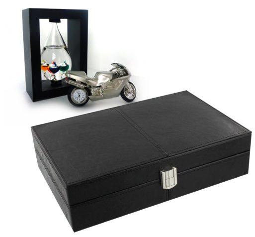 Ceas de birou motocicleta caseta pentru ceasuri de mana si termometru Galileo Galilei pentru birou