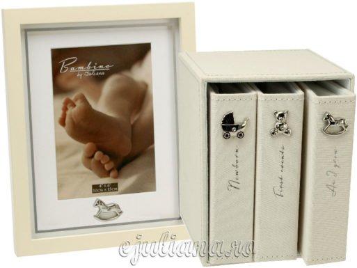 Rama set trei albume foto cadou de botez