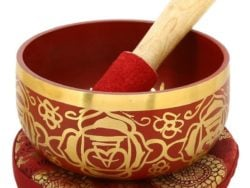 Bol tibetan cantator rosu