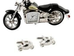 Butoni motocicleta ceas de birou clasica