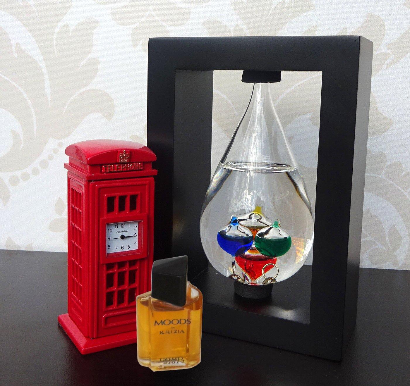 Termometru Galileo Galilei ceas cabina telefonica parfum miniatura Krizia