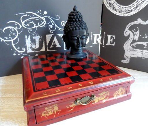 Joc de sah table cap Buddha
