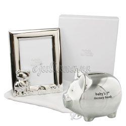 Cadou vizita bebe pusculita rama argintata