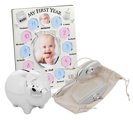 Pusculita argintata, rama primul an si perie cu pieptan pentru bebelusi