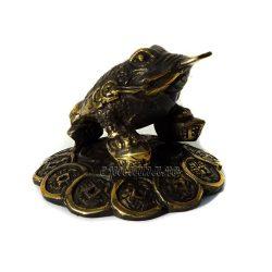 Broasca norocoasa de bronz antichizata feng shui