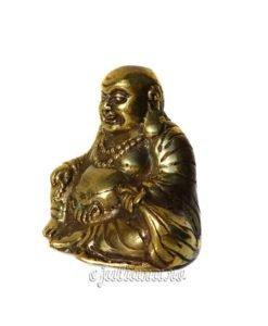 Buda de bronz statueta antichizata feng shui