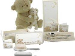 Pusculita ursulet perie pieptan tacamuri Cadou pentru bebelusi Button Corner by Juliana
