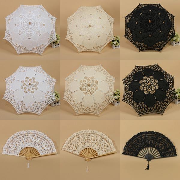 Umbrela de dantela de vara