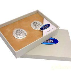 Cutiute argintate pentru mot si primul dintisor Juliana