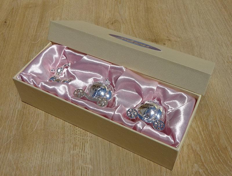 Set cadou pentru fetita mot dintisor Cinderella, Cutie cadou bebe