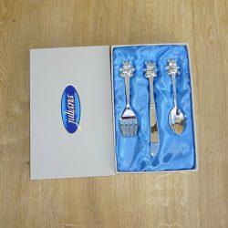 Set tacamuri argintate cadou pentru baietel