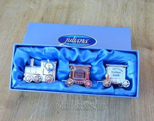 Set tren mot dintisor cadou pentru baietel