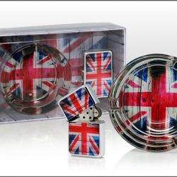 Set fumatori bricheta scrumiera British Union Jack