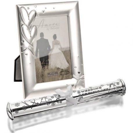 Rama de nunta suport certificat de casatorie, Cadouri de nunta pentru miri