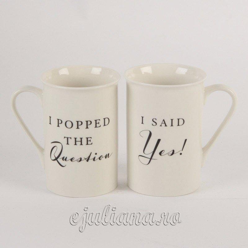 Cani de cafea pentru logodna cadouri pentru miri cadou de nunta logodna