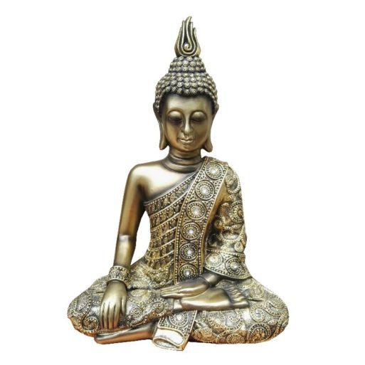 Statueta Buddha rasina antichizata