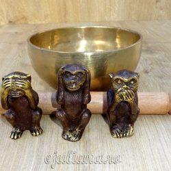 Cele trei maimute intelepte bol tibetan batut manual
