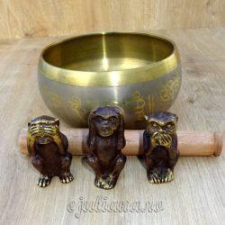Cele trei maimute intelepte bol tibetan