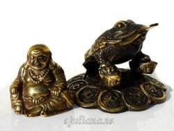 Statueta Buddha broasca raioasa norocoasa feng shui