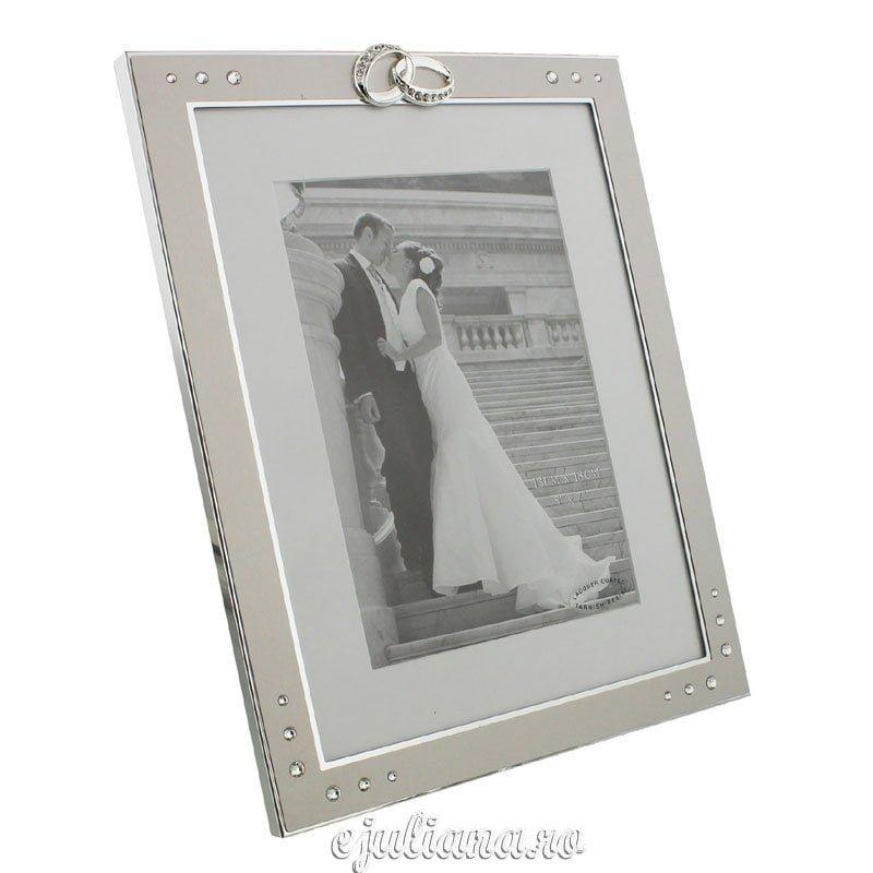 Rama foto de nunta placata cu argint din colectia pentru miri Juliana