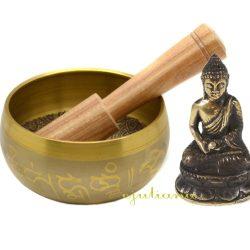 Bol tibetan si statueta Buddha