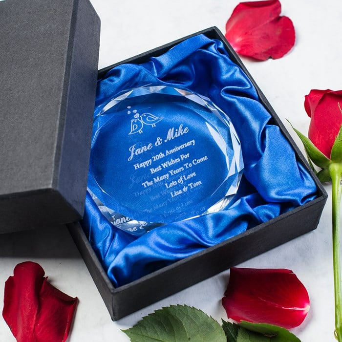 cristal personalizat trofeu cadou pentru miri