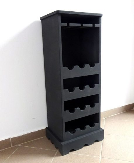 Minibar rastel suport sticle de vin negru