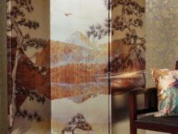 Paravan decorativ de interior Kyasha Gold