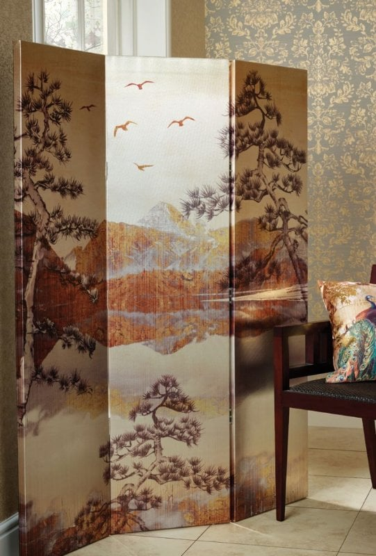 Paravan decorativ de interior Kyasha Gold, Paravane decorative