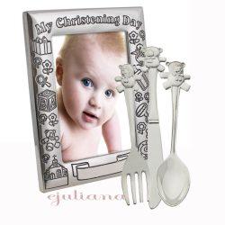 Rama foto de botez tacamuri argintate bebelusi