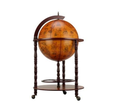 Bar cu glob pamantesc antichizat de colectie