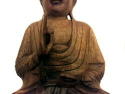 Buddha de lemn maron 32x25cm